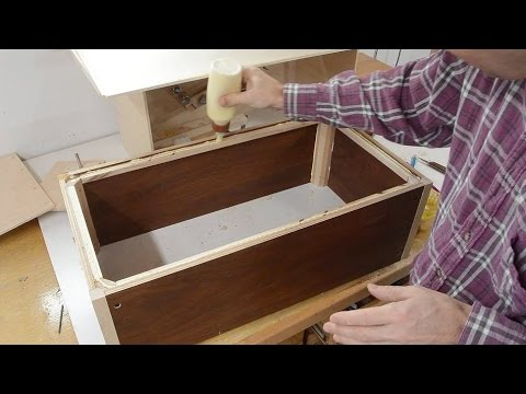 Storage box from thin recycled plywood - YouTube