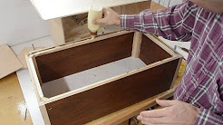 Storage box from thin recycled plywood