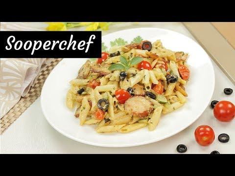 Greek Chicken Pasta Recipe By SooperChef