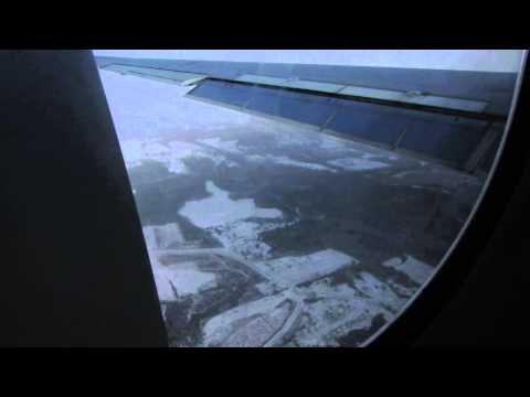 Delta flight going into Albany Airport