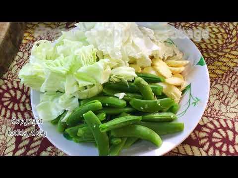 ผัดผักรวมกระเทียม : Thai Vegetables Stir-Fry with Garlic Recipe