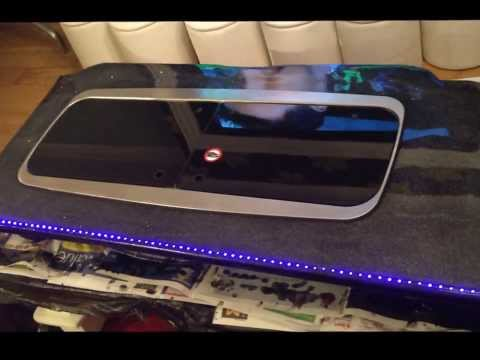 EPOXY RESIN WORK TOP, SIDE BOARD WITH LED LIGHTS,
