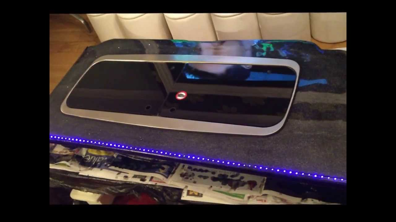 Epoxy Resin Work Top Side Board With Led Lights Youtube