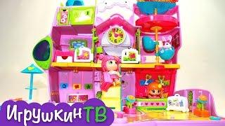 видео Куклы Пинипон (Pinypon) Famosa, автобус и отель для пинипон купить недорого в интернет магазине
