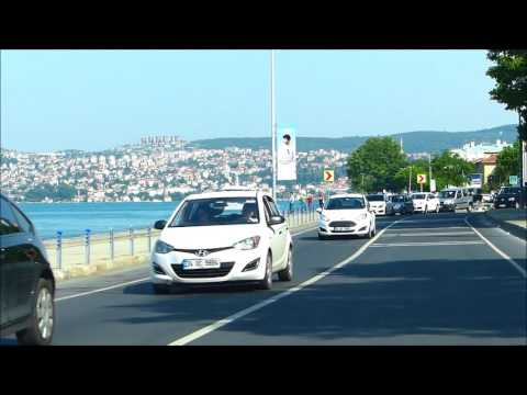 Istanbul Bosphorus, driving along the strait May 2016