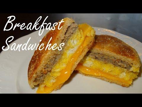 Make Ahead Breakfast Sandwiches - Easy Breakfast Recipes