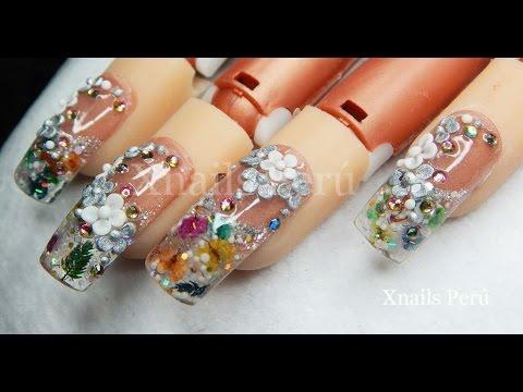 Uñas Acrílicas diseño barroco 3D Wonderland Organic Nails moldes Dual system