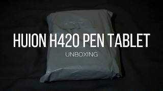 HUION H420 PEN TABLET UNBOXING + REVIEW INDONESIA