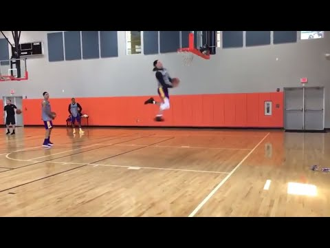 Lonzo Ball And Kyle Kuzma Crazy Dunk Contest! Lonzo Does A Crazy Windmill