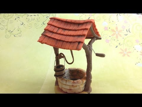 Rustic Well/ Polymer clay (Fimo soft)