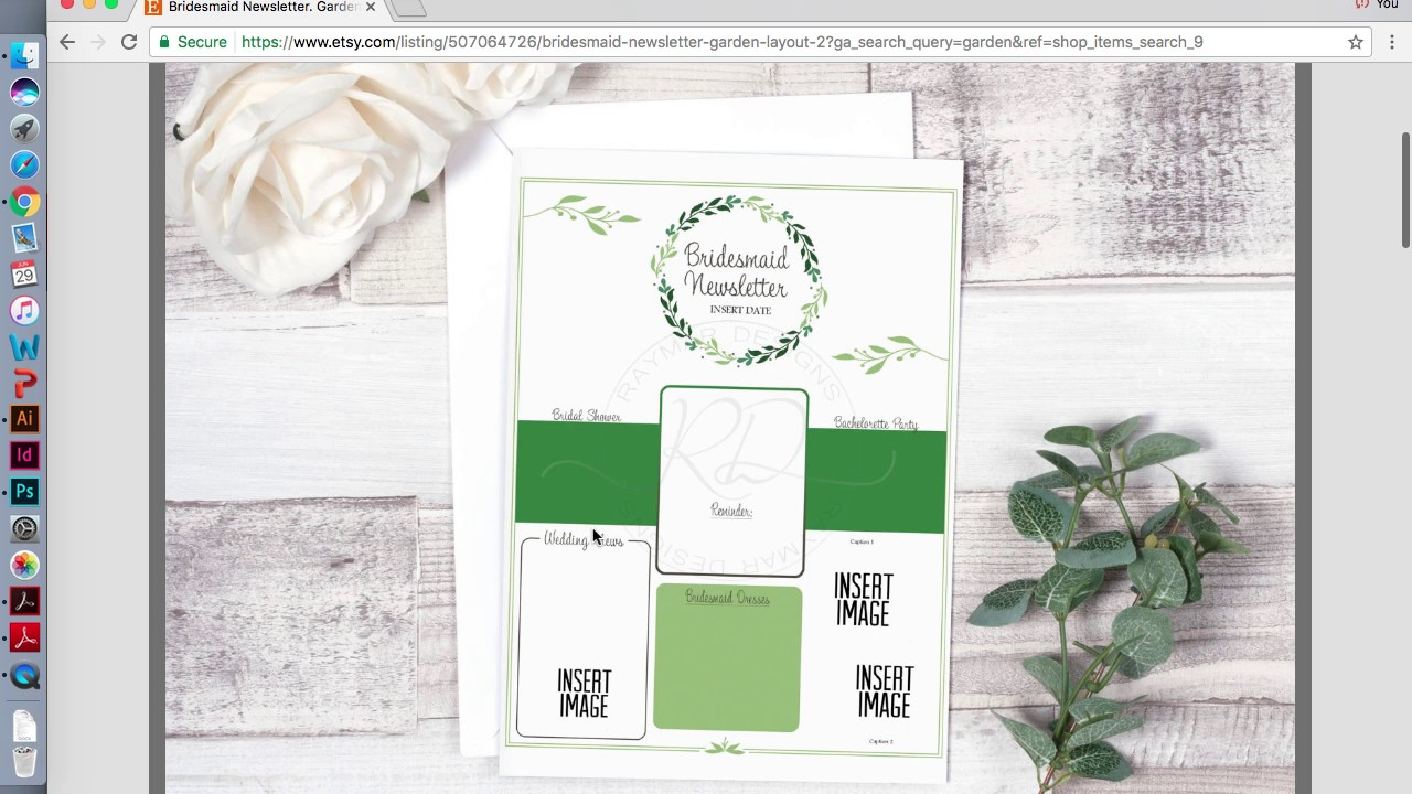Newsletter Template Bridesmaid How To Create A