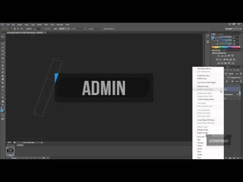 Photoshop Cs6 | Creating a animated userbar / PiP | 1080p / Commentary