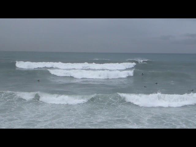 Les platges de Barcelona, ideals per observar temporals - Febrer 2021