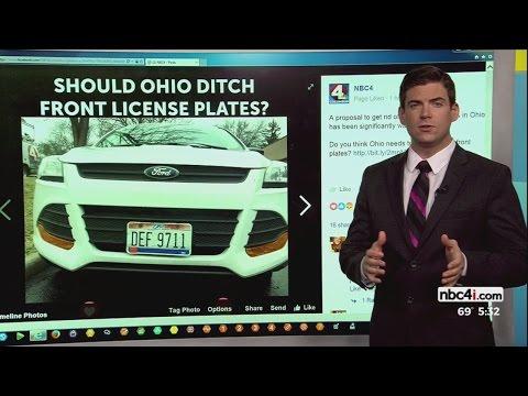 Should Ohio eliminate front license plates?