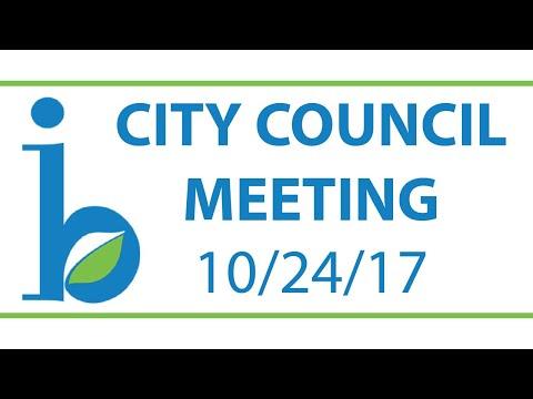 CITY COUNCIL: October 24th, 2017