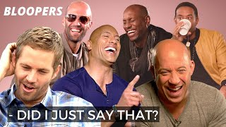 'Fast & Furious' BLOOPERS | Crack Up ☆ Gag Reel ☆ Awkward Moments | Funny Quotes