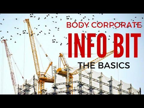 Body Corporate Basics - Info Bit