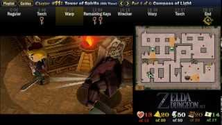 """Legend of Zelda Spirit Tracks Walkthrough 11 (6/6) """"Tower of Spirits (6): Compass of Light"""""""