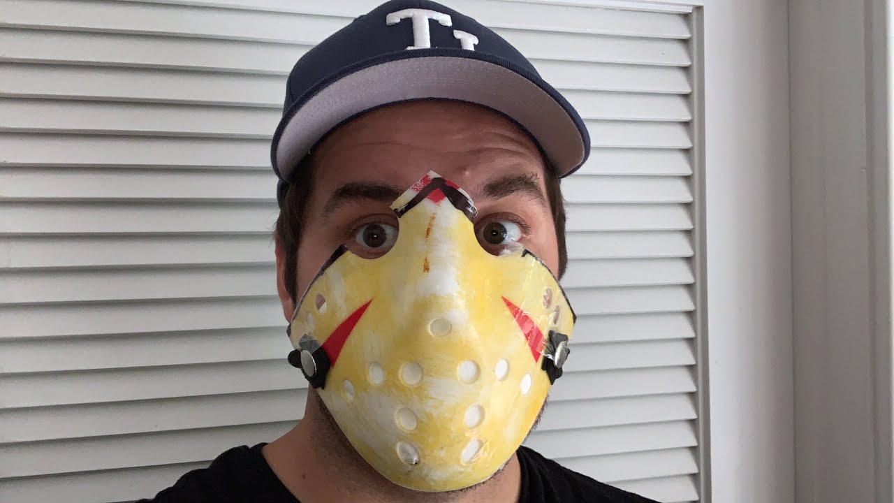 Transformed My Jason Voorhees Mask Into A Virus Protection Mask Ppe My Travel Tp Updates Youtube