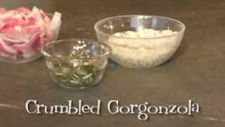Carmelized Onion And Gorgonzola Pizza