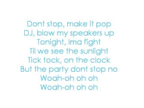 Tik Tok- Ke$ha With Lyrics