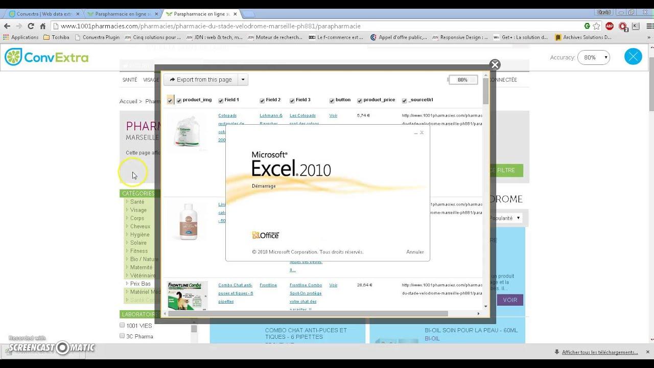 Comparateur de prix excel export convextra youtube - Comparateur de prix refrigerateur ...