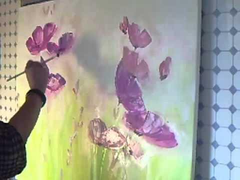 Acrylmalerei  Abstraktes Blumenbild  Sabine Belz  YouTube