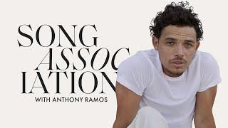 "Anthony Ramos Sings Ne-Yo, Daniel Caesar & ""Échale"" in a Game of Song Association   ELLE"