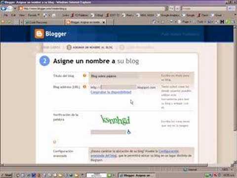 Cómo crear un weblog en Blogger
