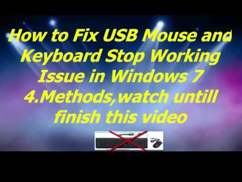 Fix mouse and Keyboard is not working window7