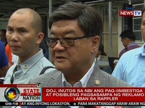 SONA: DOJ, inutos sa NBI ang pag-imbestiga at posibleng pagsampa ng reklamo vs. Rappler