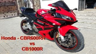 Honda CBR600RR vs CB1000R Drag race Test-drive Top speed(Make the dough a few motorcycles - who quickly Honda cbr600rr or Honda sb1000r. Also in the video is the moment where are competing the old and the new ..., 2016-02-16T19:45:36.000Z)