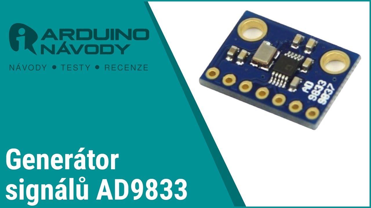 Arduino návody   Programovatelný generátor signálu AD9833