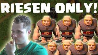 [facecam] MAX. RIESEN ONLY! || CLASH OF CLANS || Let's Play CoC [Deutsch/German HD]