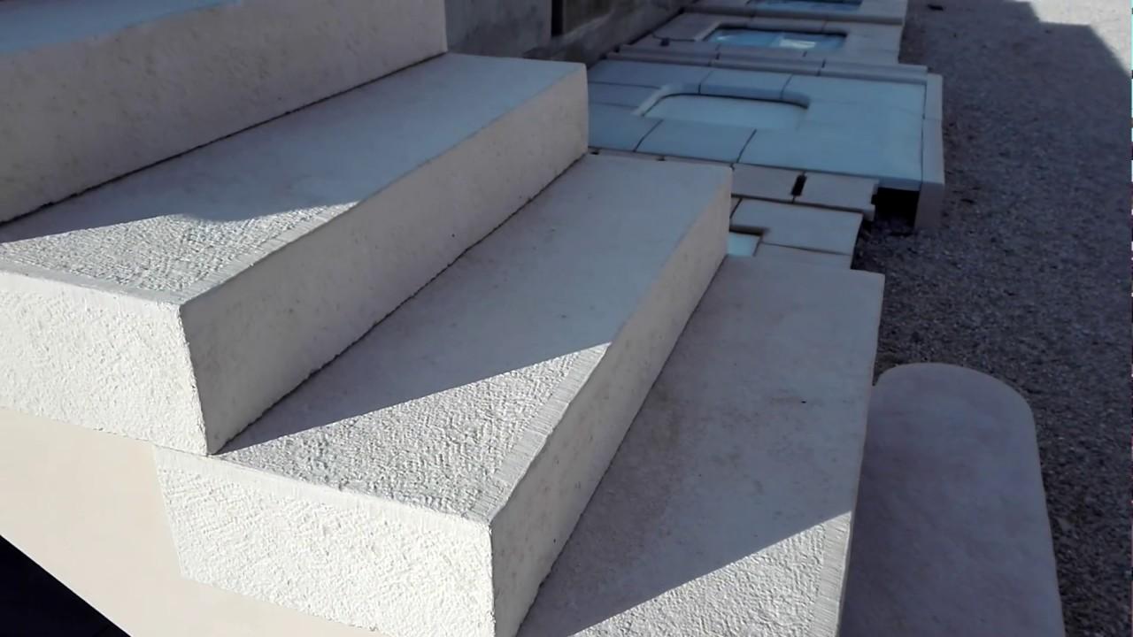 cr maill re pr fabriqu e en b ton pierre reconstitu e pour escalier blocs marches youtube. Black Bedroom Furniture Sets. Home Design Ideas