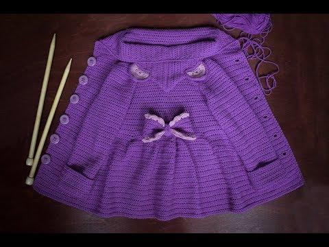 Вяжем детский кардиган / кофту ♥ Часть 2 рюши и рукава ♥ Вяжем крючком ♥ Wild Rose ♥