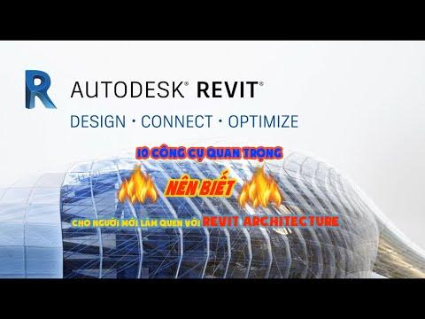 Những công cụ nên biết cho người mới bắt đầu sử dụng REVIT