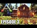 "CABIN IN THE REDWOODS ""Ark Survival Evolved"" Ep3 Building"