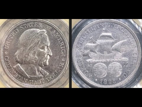 Two 1893 90% Silver Columbus Expo Commemorative Halves And A New Cam!