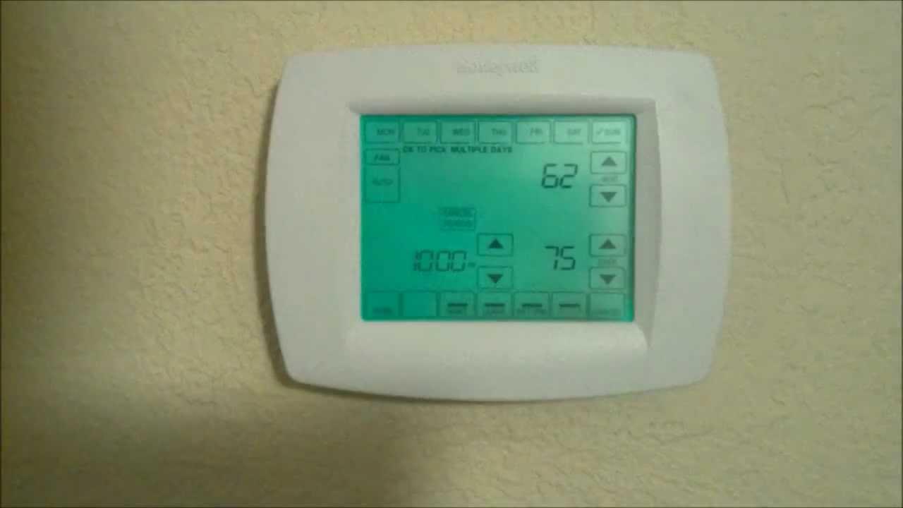 Honeywell Vision Pro Thermostat Youtube