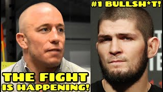 """NEW DETAILS on Georges St. Pierre vs Khabib: """"The fight IS HAPPENING, GSP is GOING TO BEAT Khabib!"""" thumbnail"""