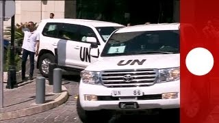 Syria: UN inspectors probe site of