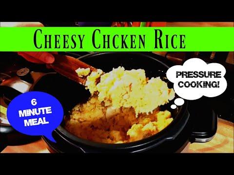 Cheesy Chicken Rice | Pressure Cooker | EASY