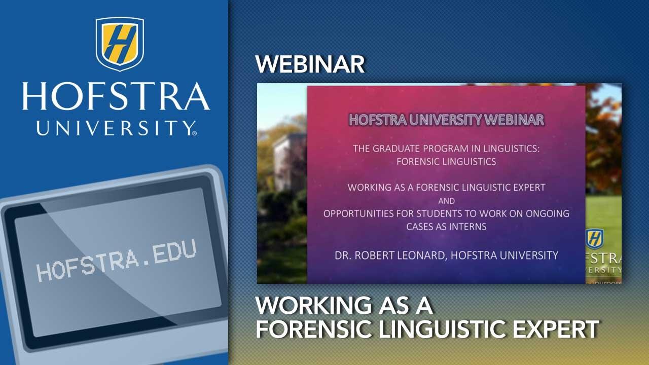 Forensic Linguistics Master S Degreee Hofstra New York