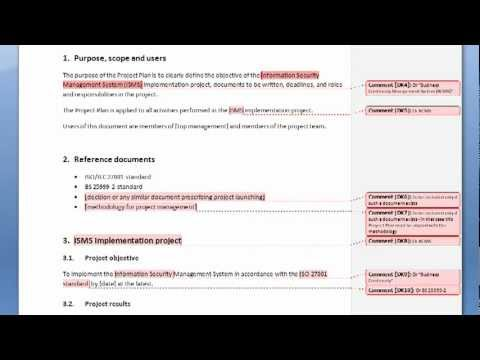 Filling in the template | How To Set Up ISO 27001 Project - Writing ...