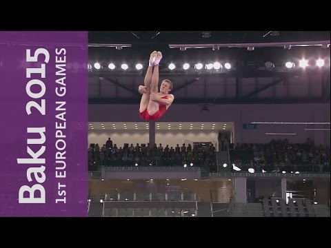Dmitry Ushakov wins individual gold | Trampoline | Baku 2015 European Games