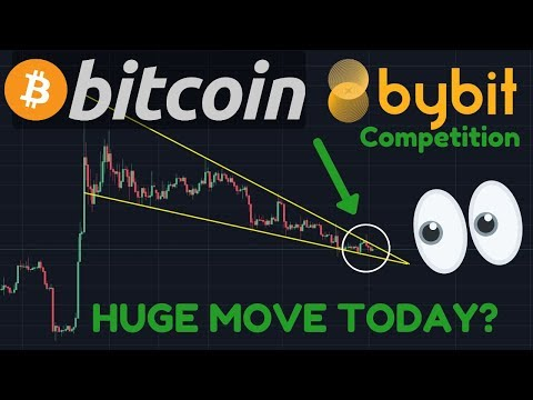 HUGE BITCOIN BREAK TODAY VERY LIKELY!!!! | PUMP Or DUMP?! | Bybit Competition Starts In 1 Week!