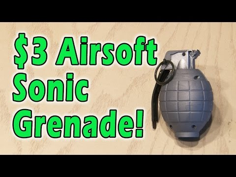 $3 Airsoft Sonic Grenade! - YouTube