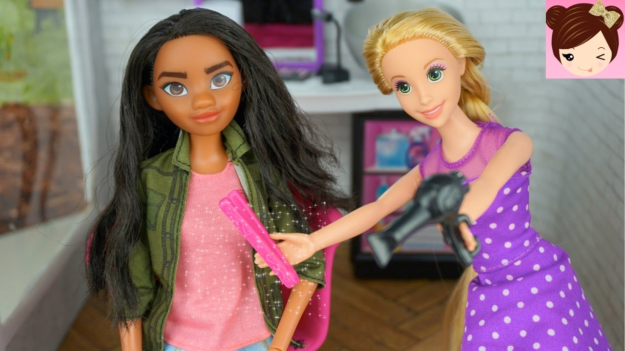 How To Style Barbie Hair Fascinating Disney Moana Gets A Makeoverrapunzel  Haircut And Style At .