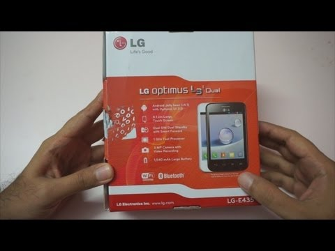 LG Optimus L3 Dual Unboxing & Overview